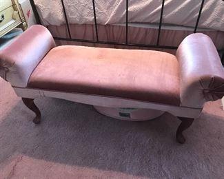 """Pink bench,  47""""L x 17""""W,  $55"""