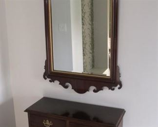 Stickley Bachelor Hall table $350.00 30 x 31 x 12 //////////Mirror $150.00