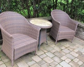 $195.00 Rattan chairs & table