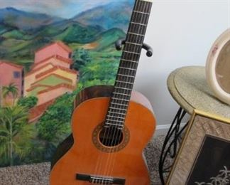 $95.00 Lyndale Classical guitar with stand
