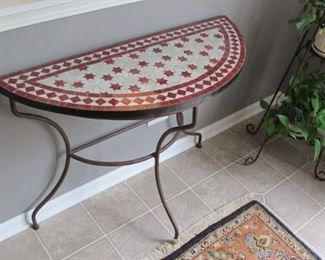 $75.00 Tiled metal plant/ accent table