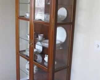 $1200.00 Baker China / Curio Cabinet with lights. 86 x 39 x 14.5 (crown not in measurements)