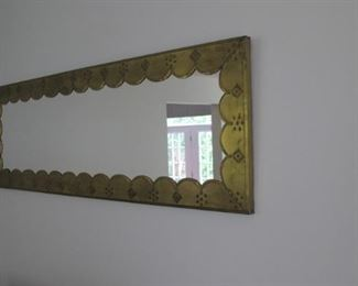 $50.00 Metal framed wall mirror 58 x 22