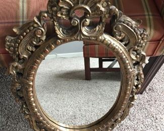 $30.00 Wood Framed mirror 12.25 x 16