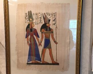 $75.00 Egyptian Queen Wall Art Print Parchment Paper Old Antique Style Print