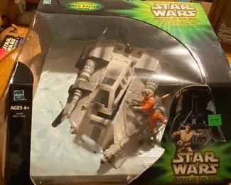 Star Wars Power of the Jedi Action Figures: Snowspeeder w Dack Ralter