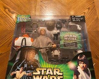 """Star Wars - Luke Skywalker 100th figure - 12"""" New in Box - Power of the Jedi"""