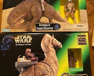 POTF 69645 1997 Dewback & Sandtrooper Galactic Empire   The Power of the Force: Ronto and Jawa