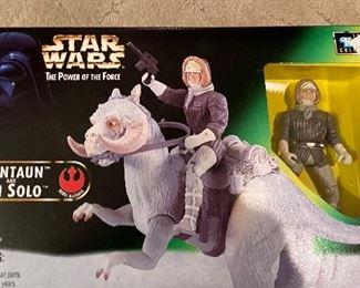 Hasbro 1998 Star Wars Power of the Force Tauntaun & Han Solo