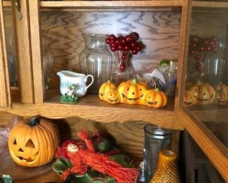 Halloween collectibles and decor