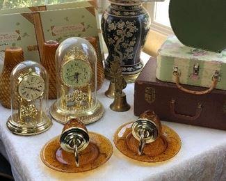 Clocks, sconces, luggage, lamps