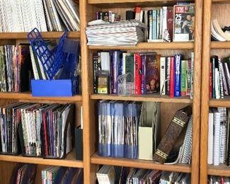 books, bookcases