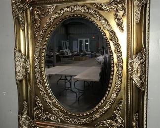gold mirror auction