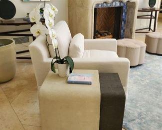 Shagreen nesting side tables