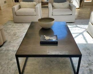 "Bronze coffee table - Reg $1750  (55""W x 35""D x 18""H) NOW $799"