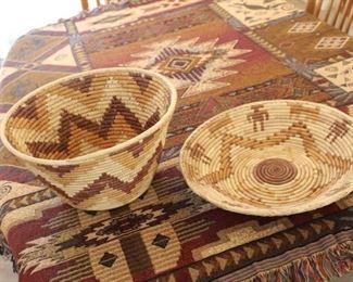 Native Amercian weaved baskets