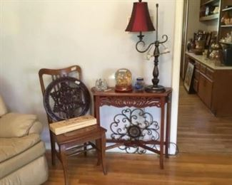 Table , Chair, Decor, lamp