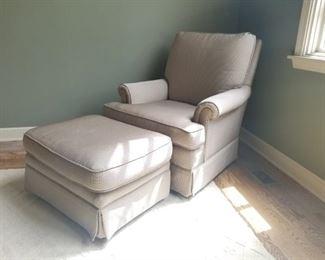 Chair & Ottoman $95