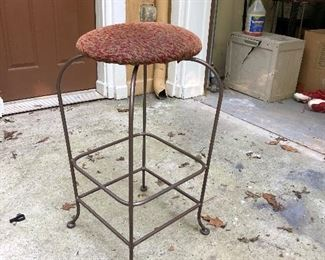 2 Iron stools- swivel
