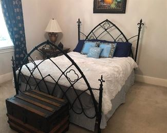 Artist crafted iron bed