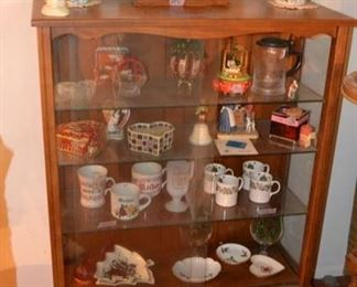 PLL #1 Curio - Glass Shelves & Sliding Glass Doors  @ $85