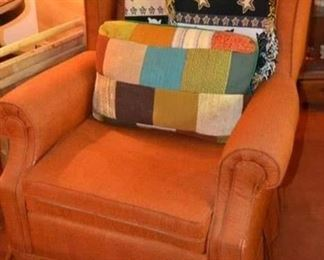 PLL #3 Upholstered Arm chair @ $85  - Pillow Cushion Sold