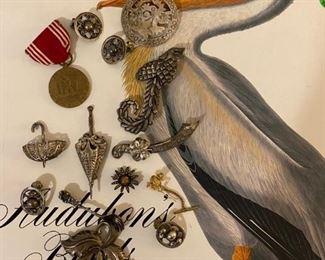 Audubon Birds of America and sterling jewelry