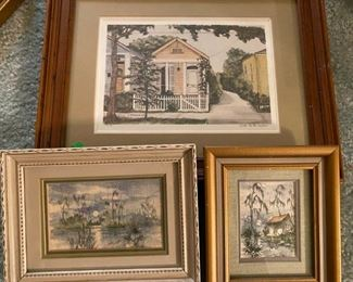 print and watercolors by Roger Carrington