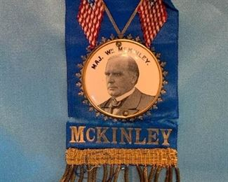 105 1896 McKinley Bicycle Campaign Club Ribbon