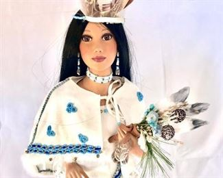 "Ashton-Drake ""Winter Moon"" Porcelain Bride https://ctbids.com/#!/description/share/415309"