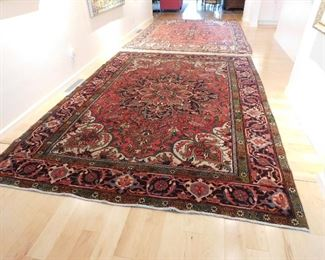 "Semi Antique Oriental Rug 8'3""x 11'-3"" Similar colors to previous rug but higher quality stitches and better wool. $1000.00"