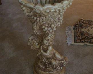 """34"""" cherub plant stand"""
