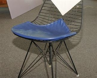 Eames Wire Chair with Bikini Cover on Eiffel Base $200.00