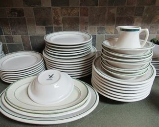 Lot of stoneware dishes 38pieces-$20.00