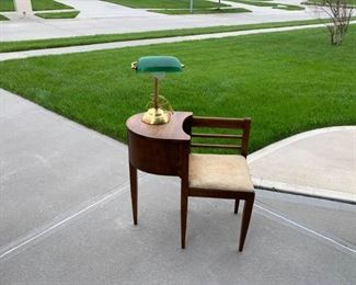 Vintage Gossip Chair and Desk Lamp