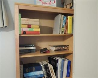 bookcase - 2 dolls - non-fiction and fiction books (shown here - plus way more