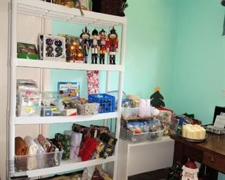 Christmas decor and selection of children's toys