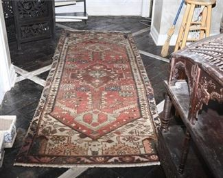 7. Semi Antique Hand Woven Large Oriental Rug