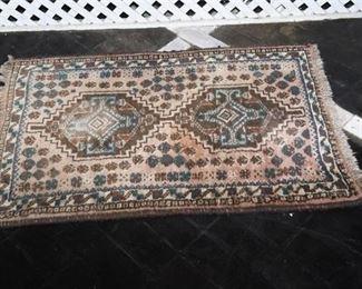 8. Semi Antique Hand Woven Oriental Rug Mat