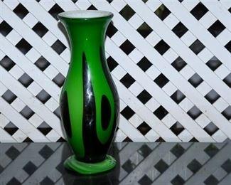 11. Vintage Large Art Glass Vase