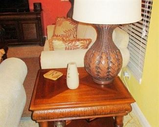 Two Lamp tables with Cindy Crawford Set.
