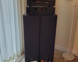 Sony Receiver, Sony High Density Linear Converter Yamaha Speakers