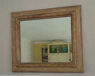 "Gold Framed Mirror 25x30"" $300"