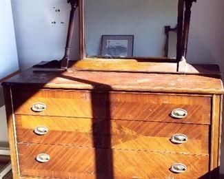 antique mahogany dresser and mirror
