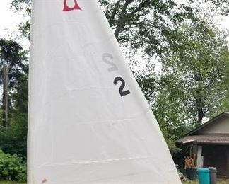 full view Jester sailboat new sails