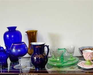 1. Group Lot Of Glass Objects