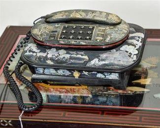 2. Vintage Abalone Inlay Touchtone Telephone