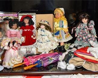 3. Group Lot Of Vintage Dolls