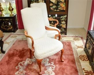 8. Two 2 Upholstered Armchairs