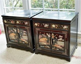9. Compatible Pair of Asian Cabinets